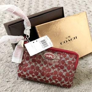 New! Coach CC wristlet red retail $55 Brand-new